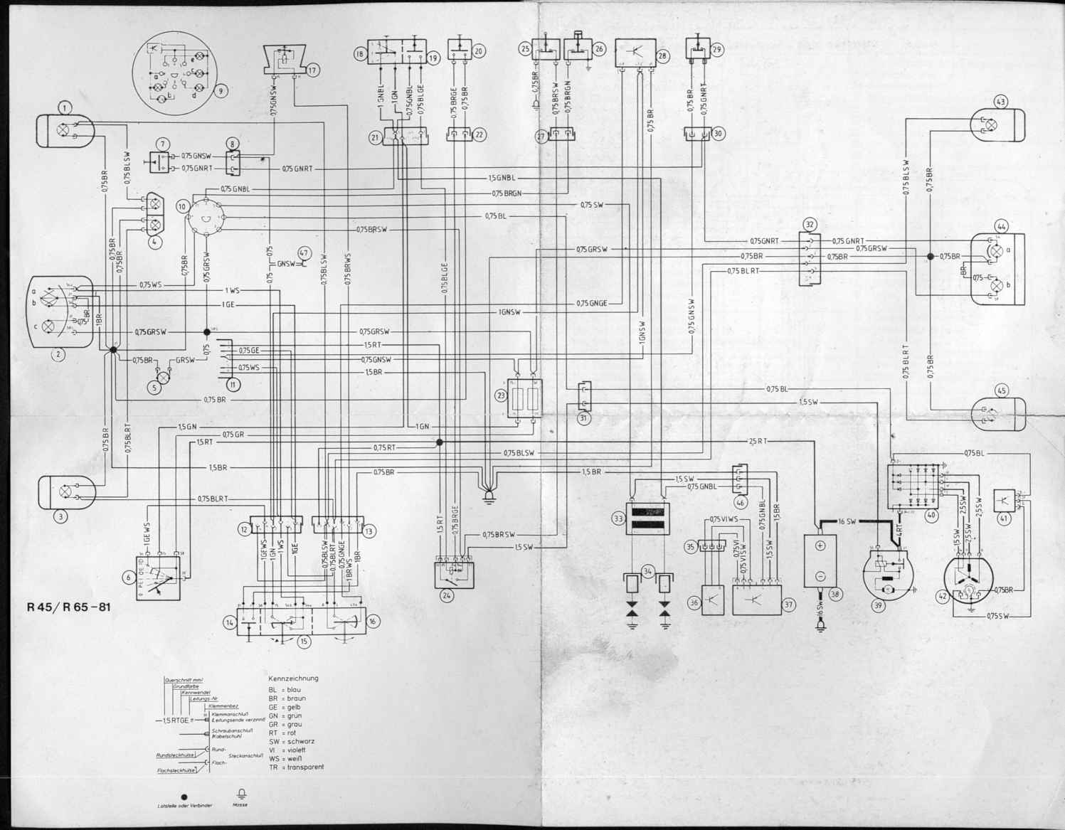 Bmw K100rs Wiring Diagram Real 1973 Motorcycle R850r Odicis K75