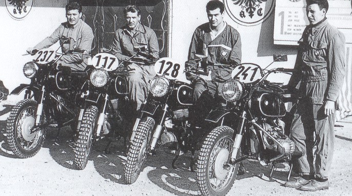 Das BMW-Team der Six Days 1956